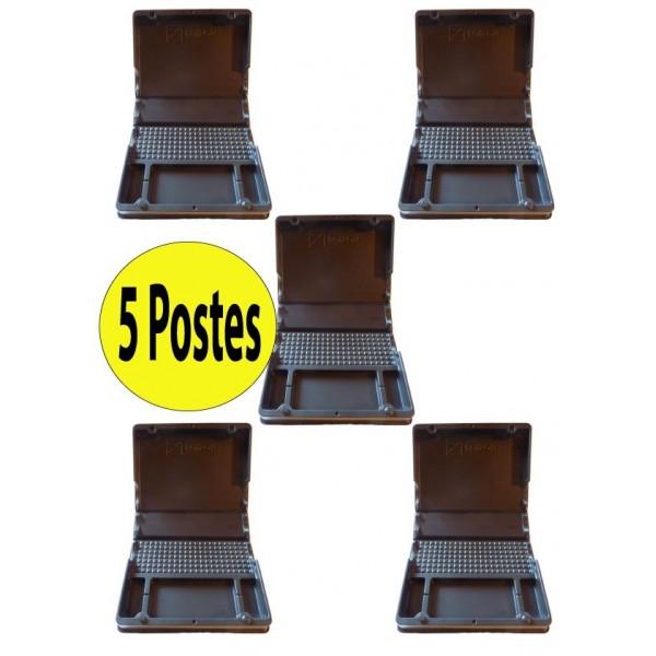 5 POSTES PVC GROS RONGEURS