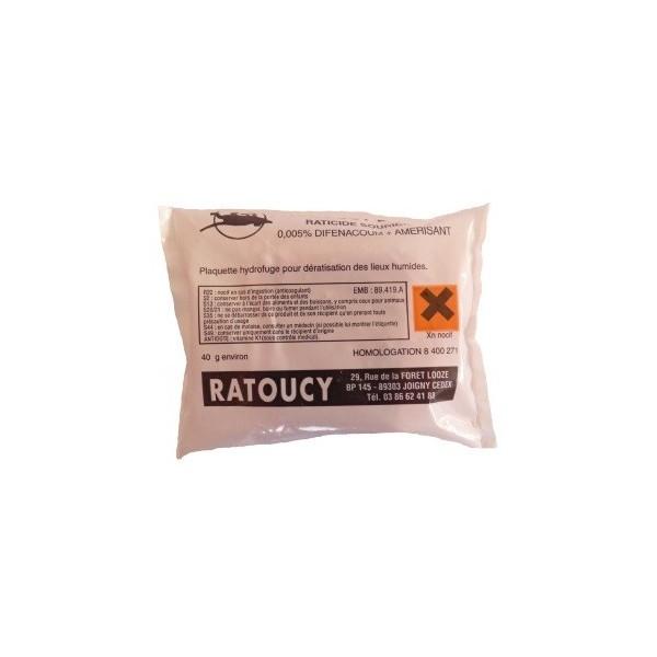 Raticides hydrofuge 25 blocs de 40 grs