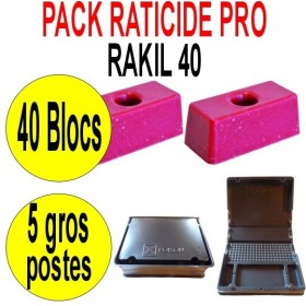 PACK RATICIDE RAKIL 40 BLOCS