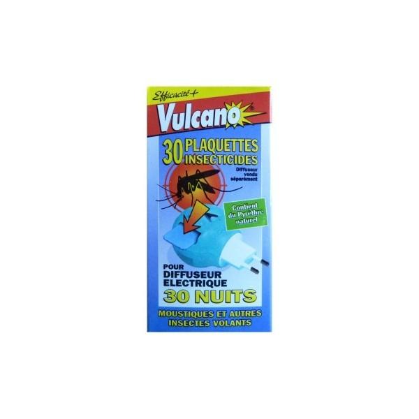 30 Plaquettes anti-moustiques Vulcano